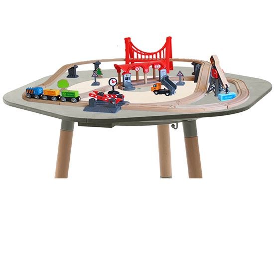 Playset Busy City con Trenino compatibile con MUtable - Hape Toys